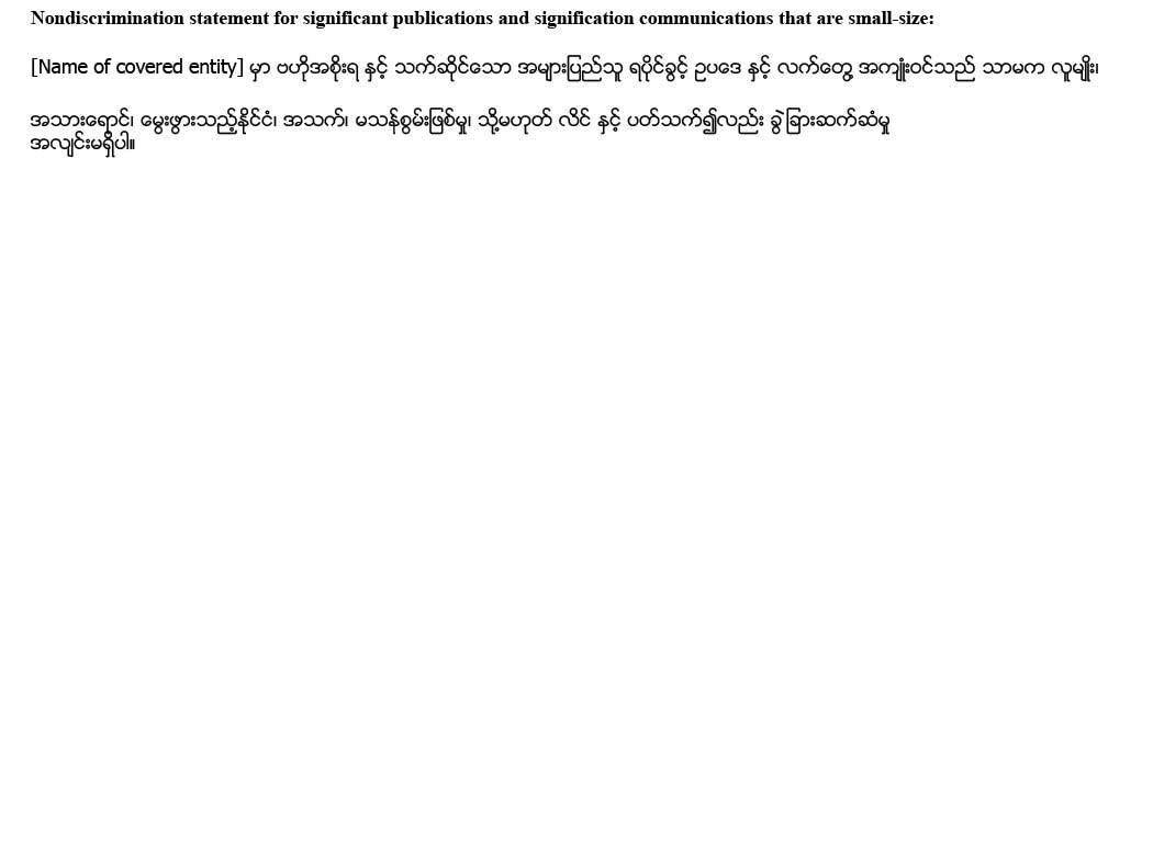 sample ce statement burmese